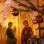 Новогодняя литургия в храме прп. Сергия Радонежского город Челябинск 2015-2016