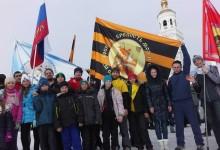 Крестный ход в виде cпортивной пробежки, город Чебаркуль, 14.02.2016