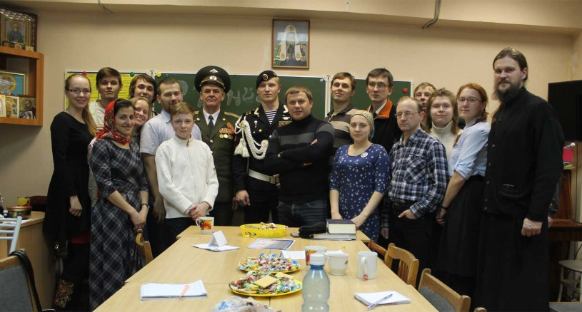 Собрание «Держись!» на 23 февраля в храме преп Сергия Радонежского, город Челябинск, 23.02.2016 года