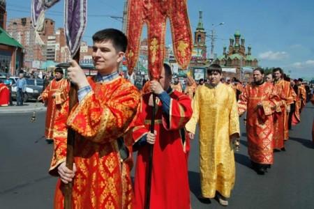 Общегородской крестный ход в честь святых Кирилла и Мефодия, город Челябинск, 2016 год