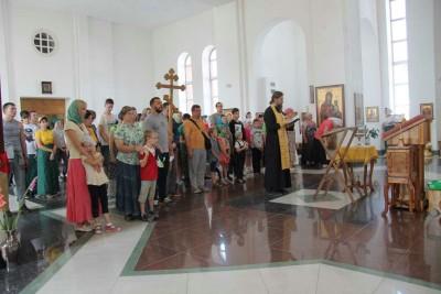 Миссионерский крестный ход, Челябинск 2016, молебен перед началом