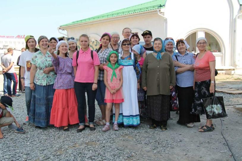 Участники миссионерского крестного хода